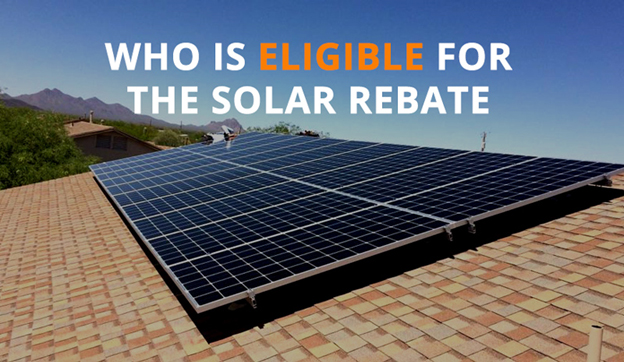 Who is eligible for the solar rebate