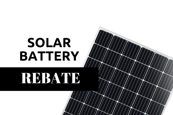 Is there a solar battery rebate