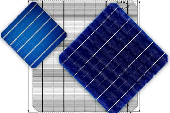 Bifacial PERC Mono (HiPerforma series) little blocks of solar panels