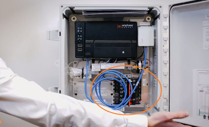 Enphase inverter open for repairs