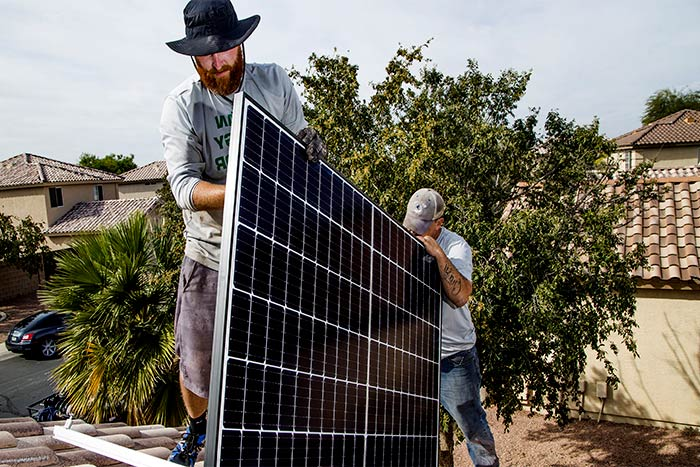 Is it expensive to install solar panels men install solar
