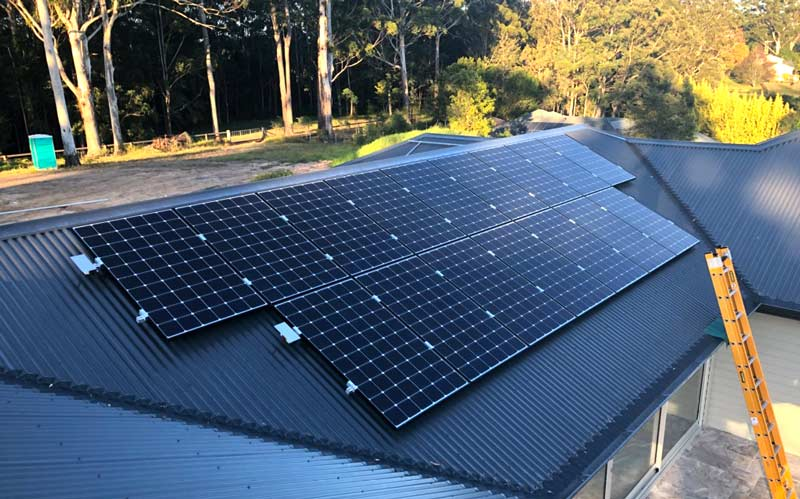 solar panel system central cost new home