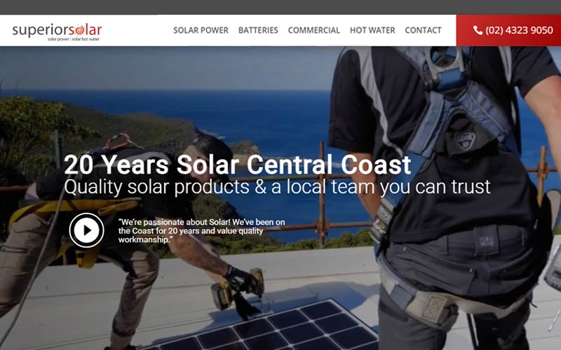 superior solar central cost website